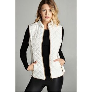 White Vest Faux Fur Lined